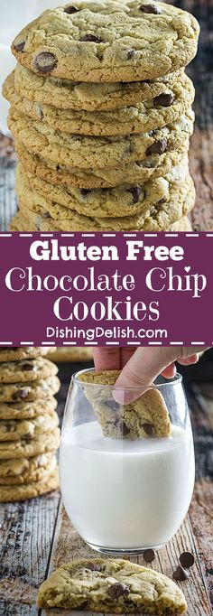 Gluten Free Chocolate Chip Cookies have crispy edges, chewy centers, and are oh-so easy to make. Here's my favorite chocolate chip cookie recipe of all time, and the perfect thing to take to your next holiday party!