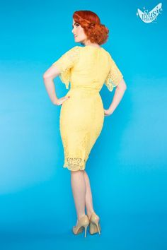 Sunshine Dress in Yellow | Pinup Girl Clothing