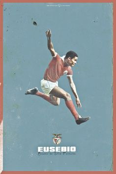 Eusebio of Benfica wallpaper. Football Awards, Football Icon, Football Is Life, Football Design, Football Art, World Football, School Football, Vintage Football, Soccer Art