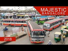 Kempegowda Bus Station, more commonly known as Majestic Bus Station, is a large bus station in central Bangalore, India. It is located opposite the Bangalore. Metro Station, Bus Station, Bangalore India, Drawing, Youtube, Design, Viajes, Sketches