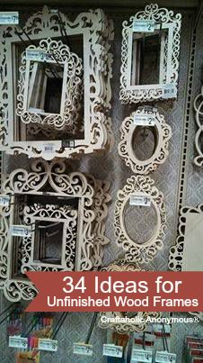 Lots of great ideas for unfinished wood frames Frame Crafts, Diy Frame, Craft Frames, Decor Crafts, Diy Home Decor, Fun Crafts, Wood Frames, Cute Frames, Frames Ideas