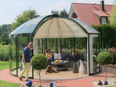 Luxus Gartenpavillon Rondo VG & VK & VP | Garten-Heinemann Gazebo Roof, Patio Roof, Pergola, Roof Dome, Conservatory Extension, Earthship Home, Dome House, Glass Roof, Roof Design