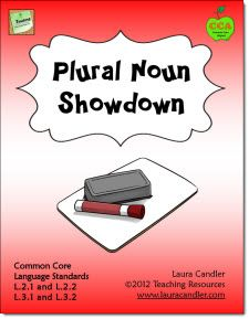 Plural Noun Showdown by Laura Candler Cooperative Learning Activities, Engage In Learning, Literacy Activities, Teaching Resources, Teaching Ideas, Leadership Activities, Cooperative Games, Therapy Activities, Irregular Plural Nouns