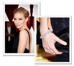 Oscar 2015: Sienna Miller com joias Forevermark (Foto: Getty Images)