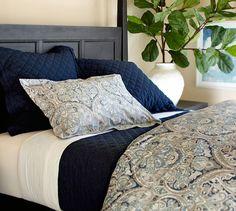 Our bedroom Mackenna Paisley Duvet Cover & Sham - Blue Master Bedroom Bathroom, Bedding Master Bedroom, White Bedroom, Bedroom Decor, Duvet Bedding, King Size Bedding Comforters, Bedroom Ideas, Linen Duvet, Blue Bedding