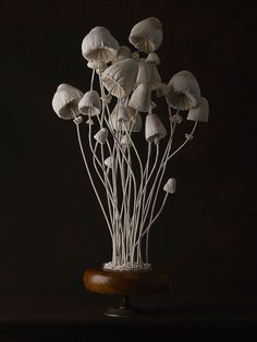 New Toadstool Sculptures Crafted From Vintage Textiles by Self-Taught Artist Mister Finch Sculpture Textile, Art Sculpture, Art Textile, Textile Artists, Mister Finch, Mushroom Art, Colossal Art, English Artists, Vintage Textiles