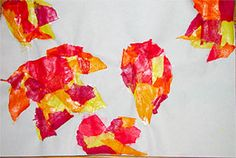 Third Grade Art Lesson 5   Tissue Paper Collage Part 1 Warm and Cool Colors in Fall Leaves