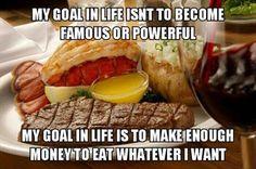 I like a good meal!
