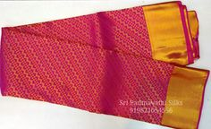 A Study in Pink! Kancheepuram handloom pure silk bridal brocade sarees in shades of pink for the beautiful bride. With gold zari all over the drape and a grand pallu, six yards of beauty add to her special day! Book now 91 9821054556 Sri Padmavathi Silks, the only South Indian store in Dombivli, India. Kancheepuram handloom pure silk bridal wedding sarees in Mumbai. International shipping available. All credit and debit cards accepted. Wholesale orders accepted.