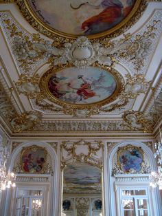 Hôtel d'Orsay, Paris, France. Gorgeous detail of the ceiling at the restaurant on first floor of the museum.