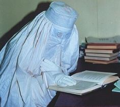 Burqa from India, 20th? century. It looks like this style of #burqa is not produced anymore.