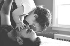 Father and son baby boy photography