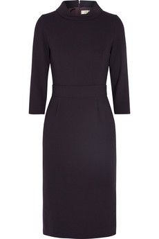 Goat Valencia wool-crepe dress | THE OUTNET Workwear Dresses, Discount Designer Clothes, Crepe Dress, Clothes For Sale, Valencia, Goat, Work Wear, High Fashion, Dresses For Work