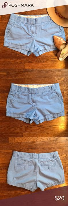 "J. Crew Chino Shorts Great condition! Very pretty periwinkle color  • 100% Cotton • 3"" Inseam • No Trading  • Reasonable Offers are Always Welcomed  • Ask Me For a Bundle Discount!! J. Crew Shorts"