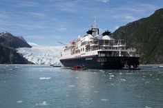 Silver Discoverer at the Holgate Glacier, Alaska.