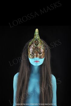 Unicorn Altuzza Mask - Unique Mask Design handmade with Passion and Papier Mâché, Exclusive, Styling accessory, ornamented, Art, Collectable Average Face, Lego Room, Big Face, Mask Design, New Trends, Masquerade, Headpiece, Art For Kids, Fit Women