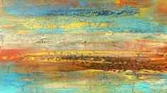 Alicia Dunn, Modern Art, Abstract Painting, Golden Landscape, Oil Painting, Alicia Dunn Golden Landscape Painting