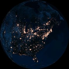 how lovely the light pollution is from space
