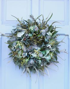 Willow and Thyme wedding & events florist All foliage, textured Christmas Wreath Christmas Door Wreaths, Christmas Flowers, Holiday Wreaths, Christmas Crafts, Christmas Greenery, Christmas Garlands, Christmas Music, Christmas Christmas, Natural Christmas