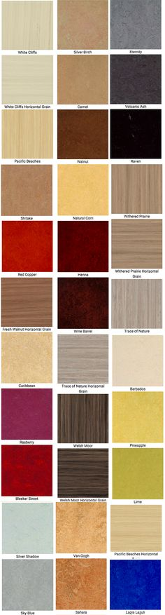 Marmoleum Click Color Chart Vinyl Flooring Kitchen Linoleum Floors Bathroom