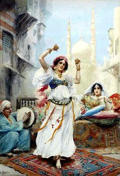 Dance girl By Fabio Fabbi (Italian, 1861-1946 )