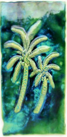 "Wall Art Palm Trees Design 8.5""x17.5"" MP21"