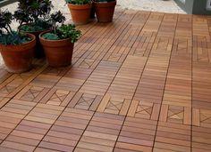 Die 9 Besten Bilder Von Holzfliesen Holz Balcony Gardens Und