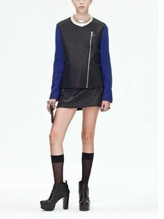 Blue black jacket matelasse