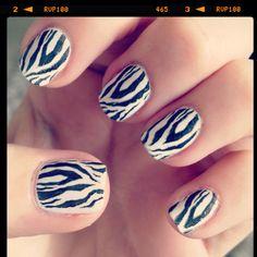 Zebra nails with Konad nail stamp