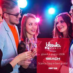 Il grande giorno è arrivato! Vi aspettiamo tutti STASERA al The Beach Club per il 1° grande Bleenka Party. E ricordatevi...se scaricate l'app chupito gratis!