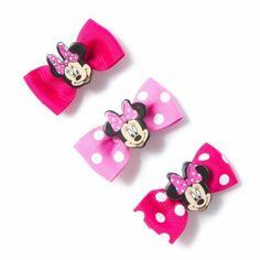 Minnie Mouse Mini Bow Hair Clips Set of 3