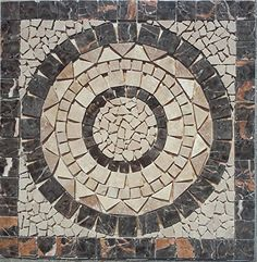 Tumbled Travertine and Polished Marble Indoor or Outdoor Floor or Wall Art Medallion / Mosaic By: Stone Deals Stone Deals http://www.amazon.com/dp/B0117VAIFC/ref=cm_sw_r_pi_dp_awdUvb1FZDHGC