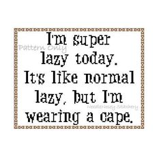 Funny Cross Stitch Pillow Brown Pillow Lazy Quote by NeedleNosey