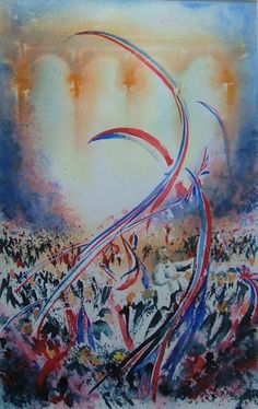 Last night of the Proms. Watercolour by Alan Noyes