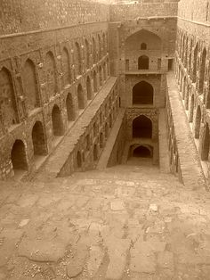 agrasen ki baoli - a step well (very ancient) in the middle of delhi, india