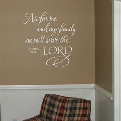 As for me and my house  Vinyl Wall Decal by OldBarnRescueCompany, $25.00