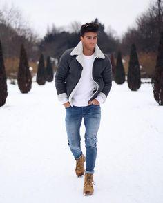 Skinny Jeans For Men Black Streetwear Hip Hop Stretch Jeans Hombre Slim Fit Fash - Men Jeans - Ideas of Men Jeans - Skinny Jeans For Men Black Streetwear Hip Hop Stretch Jeans Hombre Slim Fit Fashion Biker Ankle Tight Winter Wear For Men, Casual Winter Outfits, Ootd Winter, Winter Jackets For Men, Stylish Outfits, Mens Fall Outfits, Mens Winter Boots, Casual Wear For Men, Outfit Winter