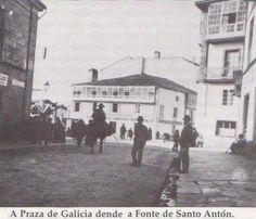 Plaza de Galicia. Fotografía antigua de Compostela