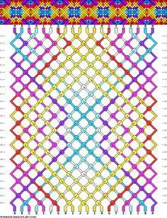 M hacer-bisuteria/patrones-para-hacer-tus-pulseras-de-macrame-paso-a-paso. patrón pulsera amistad colores