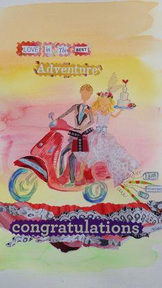 """original image for Chique Lixo - """"wedding vespa"""" card"""