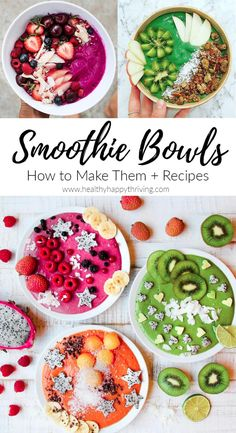 How To Make Smoothie Bowls (Recipes Included) – Healthy Happy ThrivingHealthy Happy Thriving