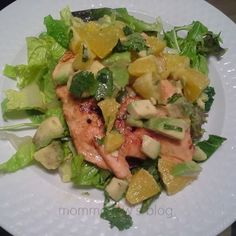 Citrus & Avocado Salmon - Momma Lew