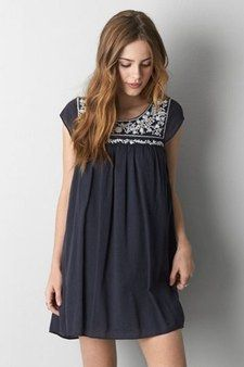 Boho Embroidery Embroidery- summer style, loose fitting dress - These 100 fun, flirty, affordable dresses have a little bit of movement and a touch of flair, and some are sure to become regulars in your summer wardrobe rotation. Cute Dresses, Casual Dresses, Cute Outfits, Pink Outfits, Fall Dresses, Affordable Dresses, Fashion Outfits, Womens Fashion, Fashion 2015