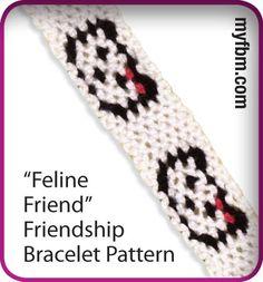 Friendship Bracelet Pattern Feline Friend Design by My Friendship Bracelet Maker myfbm.com