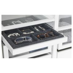 IKEA - KOMPLEMENT Pull-out tray with insert white, gray Ikea Wardrobe, Wardrobe Storage, Ikea Komplement, Ikea Pax, Ikea Bedroom, Home Desk, Master Closet, Master Bedroom, Dream House Plans