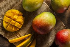 Mangoes are neutral, sweet and sour. They regnerate body fluids, stop coughs, stop thirst, and strengthen the stomach. For weak digestion, drink plenty of mango juice. For enlarged prostate, boil mango peel and seed in to a tea and drink. Add mango to your morning smoothie! Reference: The Tao of nutrition, Maoshing Ni - Cathy McNease - Sevenstar, Communications - 1987
