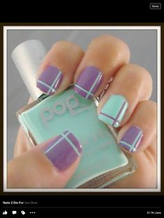 Image via Lazy Girl Nail Art Ideas That Are Actually Easy Image via Simple and Easy Nail Art Designs for Beginners Image via Easy Striping Tape Nail Art Image via Cute and Tape Nail Art, Nail Art Diy, Diy Nails, Gel Manicure, Tape Art, Shellac, Fancy Nails, Trendy Nails, Cute Nails