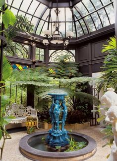 A Gardener's Dream Greenhouse: A view from the inside of the Victorian-era conservatory.