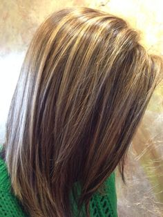 Chocolate-Brown-Hair-With-Chunky-Highlights-Blonde-Hair-Highlights-And-Lowlights-Pictures.jpg (736×981)