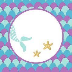Pegatina Redonda Sirena debajo del primero de la magdalena del | Zazzle.es Mermaid Theme Birthday, Little Mermaid Birthday, Unicorn Birthday, The Little Mermaid, Birthday Party Themes, Birthday Invitations, Mermaid Baby Showers, Baby Mermaid, Mermaid Wallpapers